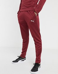Puma Football Joggers In Burgundy Exclusive To Asos Red