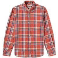 Remi Relief Check Tassel Shirt Red