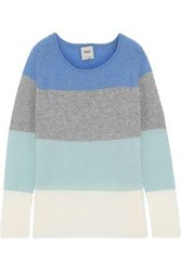 Charli Woman Calla Color Block Cashmere Sweater Blue