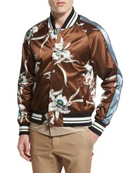 Red Valentino Floral Print Silk Blouson Jacket Multi Men's
