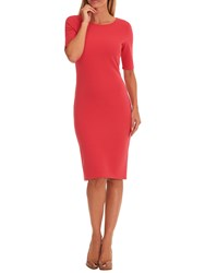Betty Barclay Fine Ribbed Dress Coral Red