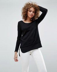 Only Jessy Jess Layered Long Sleeve Tee Black
