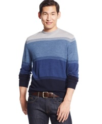 Club Room Big And Tall Merino Wool Colorblocked Crew Neck Sweater Only At Macy's Navy Blue