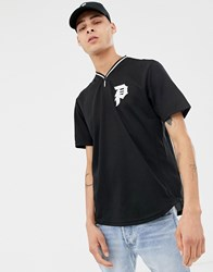 Primitive Practise Baeball T Shirt With Logo In Black