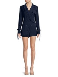 The Fifth Label Lapel Collar Romper Navy