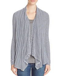Three Dots Draped Stripe Cardigan 100 Bloomingdale's Exclusive White