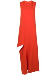 Maison Martin Margiela Cady Maxi Dress Red