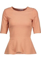Kain Label Hatton Striped Stretch Modal Peplum Top Orange