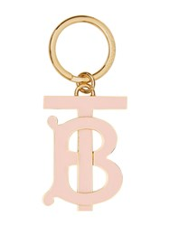 Burberry Monogram Motif Gold Plated Key Charm Pink