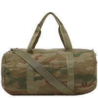 Fred Perry Camo Barrell Bag Green
