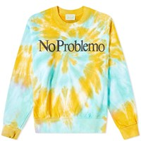 Aries No Problemo Tie Dye Crew Sweat Multi