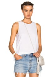 James Perse Wrap Tunic Top In White