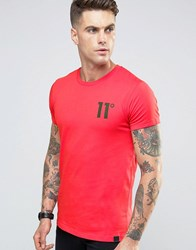 11 Degrees Logo T Shirt Red