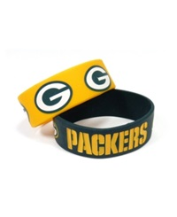Aminco Green Bay Packers Wide Bracelet 2 Pack
