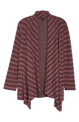 Bobeau Plus Size Amie Cozy Stripe Cardigan