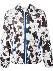 Iceberg Mickey Mouse Print Hooded Jacket Black
