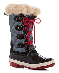 Khombu Andie Quilted Cold Weather Boots Black Blue