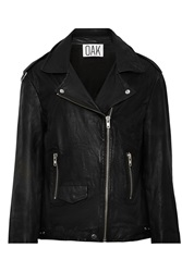 Oak Slouch Perforated Leather Biker Jacket