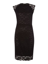 Y.A.S. Sleeveless Lace Dress Black