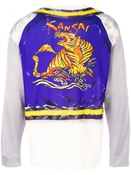 Kansai Yamamoto Vintage Tiger Printed Layered Top Multicolour