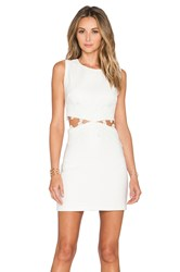 Endless Rose Crochet Cut Out Dress White