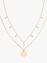 Merci Maman Personalised Layering Disc Necklace Gold