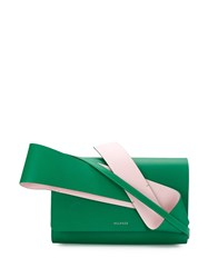 Delpozo Structured Design Crossbody Green