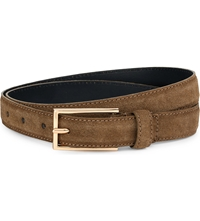 Sandro Audio Suede Belt Khaki