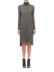 Walter Baker Felicity Hi Lo Knit Dress Grey