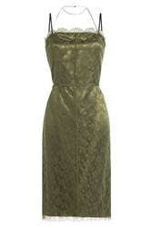 Nina Ricci Dress With Lace Green