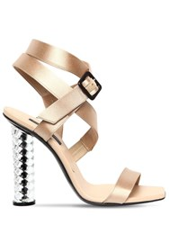 Diego Dolcini 105Mm Juliette Baccarat Silk Sandals Nude