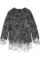 Adam By Adam Lippes Felted Lace Sweater Black