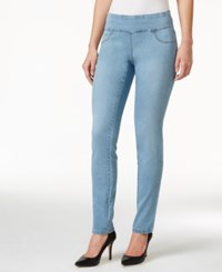 Styleandco. Style And Co. Curvy Fit Pull On Beachwood Wash Skinny Jeans Only At Macy's