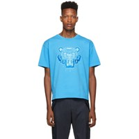 Kenzo Blue Icon Tonal Tiger T Shirt