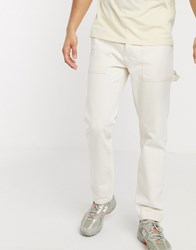 Mennace Carpenter Trouser In Off White Cream