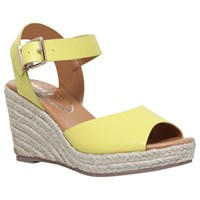 Miss Kg Paisley Wedge Heeled Sandals Lime