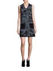 M Missoni Metallic Tweed Shift Dress Ice