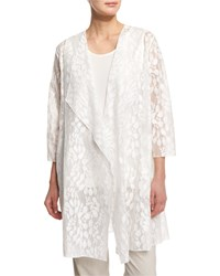 Caroline Rose Rain Lace Sheer Topper Jacket White Women's