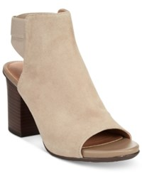 Kenneth Cole Reaction Frida Fly Dress Sandals Women's Shoes Taupe Suede