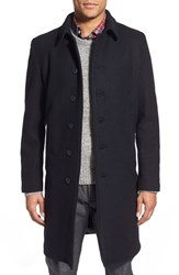 Men's Schott Nyc Wool Blend Officer's Coat