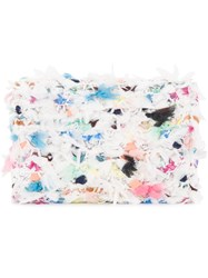 Coohem Knit Tweed Spring Paint Cardholder Calf Leather Polyester Nylon Acrylic White