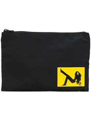 Calvin Klein Jeans Pin Up Girl Patch Clutch Black