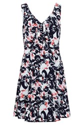 Sugarhill Boutique Poppy Floral Bow Dress Navy