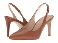 Massimo Matteo Pointy Sling Pump Caramel High Heels Brown