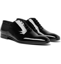 Hugo Boss Patent Leather Oxford Shoes Black