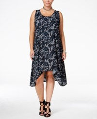 Standards And Practices Trendy Plus Size Ace Camo Print Dress Midnight Camo