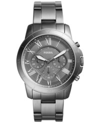 Fossil Men's Chronograph Grant Gray Ion Plated Stainless Steel Bracelet Watch 44Mm Fs5256 Gunmetal