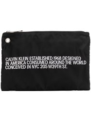 Calvin Klein 205W39nyc Embroidered Small Pouch Black