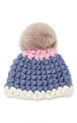 Mischa Lampert Beanie Dot Blue Pink Brown