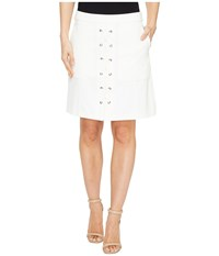 Catherine Malandrino Arry Skirt Empire White Women's Skirt